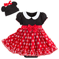 Minnie Mouse Red Bodysuit Costume Set for Baby - Personalizable
