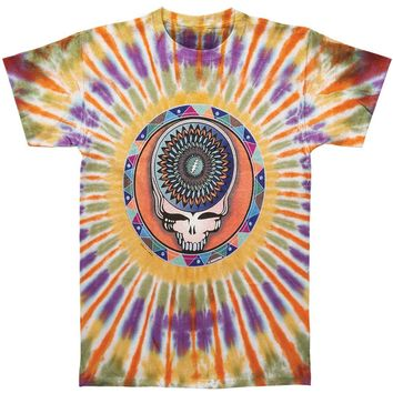 Grateful Dead Men's  Steal Your Feathers Tie Dye T-shirt Multi