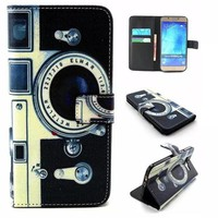 Camera Print Leather Case Cover for iPhone & Samsung Galaxy-170928