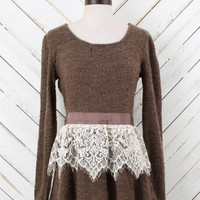 Altar'd State Ribbons and Lace Sweater | Altar'd State