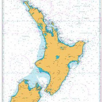 British Admiralty Nautical Chart  4640: South Pacific Ocean, New Zealand, North Island