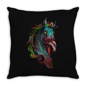 zombie horse new Throw Pillow