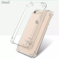 Shockproof For iPhone X 7 6s Case Cover Plus Best Full Phone Protective Silicone Clear Accessories for apple iphone 8 6 5s Cases