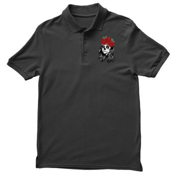 Skull Girl Polo Shirt