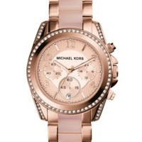 Michael Kors Women's Chronograph Parker Blush and Rose Gold-Tone Stainless Steel Bracelet Watch 39mm MK5896 | macys.com