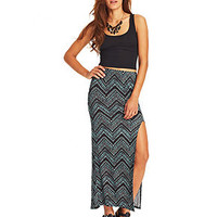 Material Girl Juniors' Printed High-Slit Maxi Skirt