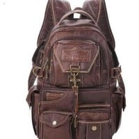 University College Backpack 2018 The New Large Capacity PVC Material  Vintage Shoulder Women's  Students Travel Computer Leather Bag MochilasAT_63_4