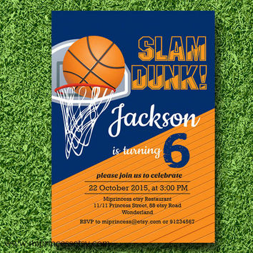 best basketball birthday invitations products on wanelo, party invitations