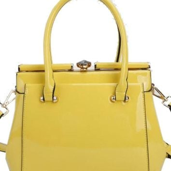 Fit For a Queen Hand Bag YELLOW
