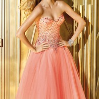 Strapless Tulle Gown by Alyce Prom