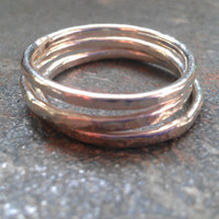 Triple Stack Sterling Silver Rings by 74thAndAvalon on Etsy