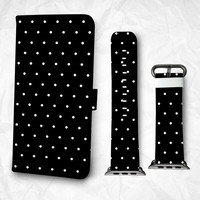 Gift Set iPhone case Apple Watch Band 38mm 48mm dots pattern iPhone 6S case iPhone 6S Plus iPhone 5S case iPhone 4S case