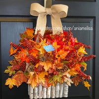 WREATHS ON SALE fall wreath Thanksgiving wreaths welcome wreaths for door wreaths front door wreaths outdoor wreaths decorations wall decor