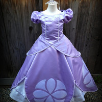Sofia the First Princess Dress Gown Adult or Child Custom Costume