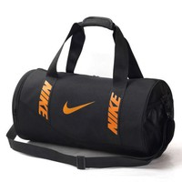 NIKE Fashion Women Men Personality Letter Print Travel Bag Carry-On Bag Luggage Tote Handbag Black I