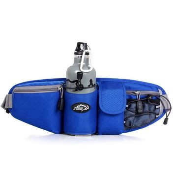 DCCK7N3 Sports Waist Bag Men Women Pack Outdoor Water Bottle Belt Bag Running Hiking Bicycle Cycling Pannier Road Bike Ride Waist Bags