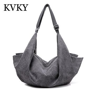 Hot Designer Women Handbags Hobo Bag Canvas Large Shoulder Bags Big Vintage Ladies Crossbody Bag Casual Bolsos Mujer Hombro Lona