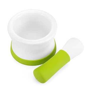 Veesun Ceramic Mortar and Pestle With Non-Slip Detachable Silicone Base