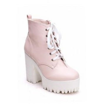 Simple Style Chunky Heel and Platform Design Women's Boots