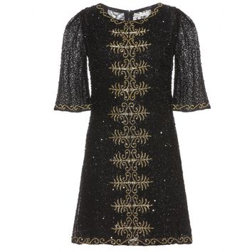 alice + olivia - markiz embellished silk dress