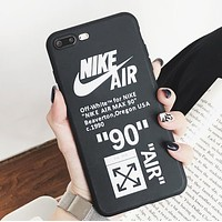 NIKE & Off White Fashion New Letter Arrow Print Women Men Protective Cover Phone Case