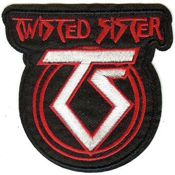 Twisted Sister Iron-On Patch TS Logo