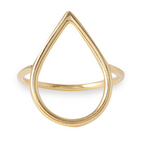 Dew Drop Ring, 14K Yellow Gold, Stone & Novelty Rings