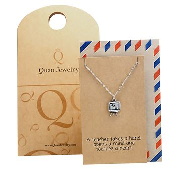 Emma Teacher Gifts and Appreciation, 2 + 2 = 5 Necklace