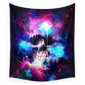 Society6 Space Skull Wall Tapestry