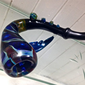 ONE OF A KIND Sherlock Glass Pipe with Wing Sculpture