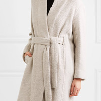 Vince - Belted wool-blend bouclé coat