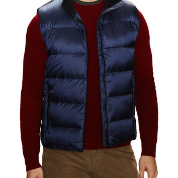 Victorinox Men's Brugg Quilted Puffer Vest - Blue -