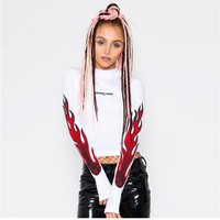 women t shirt fire sweater
