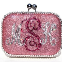 Personalized Monogram Crystal Clutch