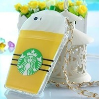 Yellow Green White Black TPU Silicone Starbucks Cup Smart Phone Cover Case