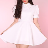 Glitters For Dinner — Made To Order - All White Alice Dress