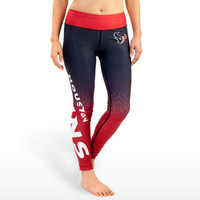 Houston Texans Womens Gradient Official NFL Print Leggings