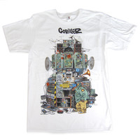 Gorillaz: Multi Boomboxes Shirt - White