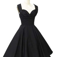 1950s Style Black Swing Dress