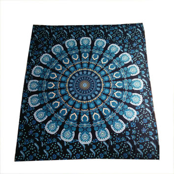 Indian Style Tapestry Elephant Printed ~Wall Hanging Rectangle Decorative Tapestries ~130cmx150cm 153cmx203cm Sheet Tapestry 005