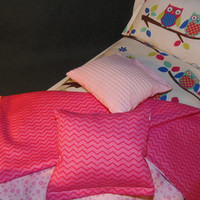 Five Piece Doll Bedding Set for American Girl Doll with Owl mattress and pillow