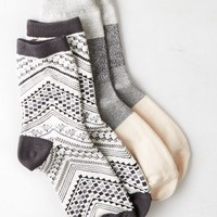 AEO Women's Printed Mid-crew Sock 2-pack