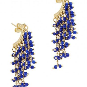Elizabeth and James Rosanna 24kt gold-plated earrings