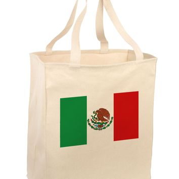 Mexican Flag Large Grocery Tote Bag