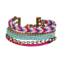Aeropostale Womens Tiered Bracelet, One