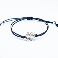Lotus Bracelet made with Cotton Cord