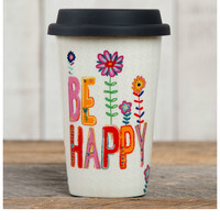 Natural Life Thermal Mug - Be Happy