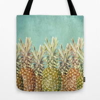 Pineapple Paradise Tote Bag by Lisa Argyropoulos