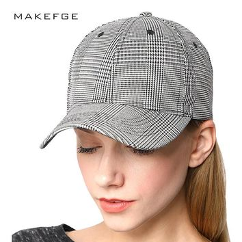 Trendy Winter Jacket high quality Fashion Brand  Plaid  hat cap ny caps Men Women's baseball cap Scottish  Fitted Hat Casual Spring  Snapback AT_92_12