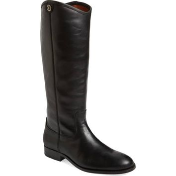 FRYE Women's Melissa Button 2 Leather Tall Shaft Pull-on Riding Boots